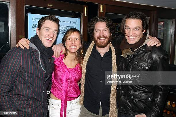 Actor Brad Johnson writer and director Tina Murgas actor Adam Johnson and actor Bart Johnson attend the after party of the premiere of Happy Valley...