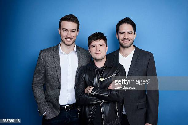 Actor Brad Martocello actor Josh Hutcherson and producer Jacob Avnet pose for a portrait at the Tribeca Film Festival on April 21 2016 in New York...