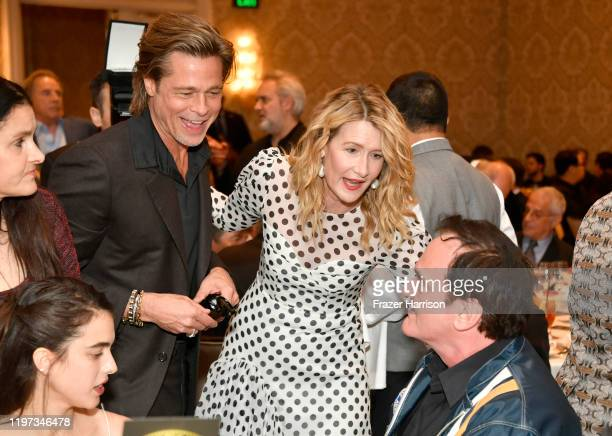 Actor Brad Pitt actor Laura Dern and filmmaker Quentin Tarantino attend the 20th Annual AFI Awards at Four Seasons Hotel Los Angeles at Beverly Hills...
