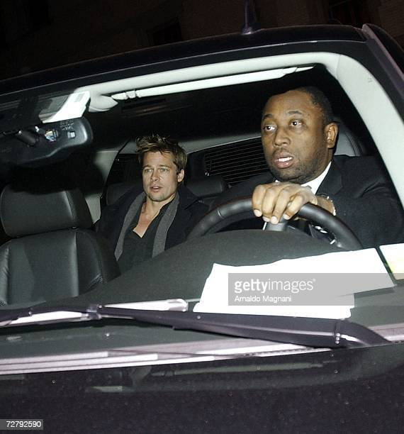 Actor Brad Pitt and actress Angelina Jolie arrive for a dinner engagement December 10 2006 in New York City
