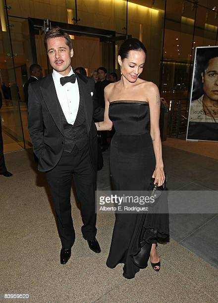 Actor Brad Pitt and actress Angelina Jolie attend the after party for the premiere of Paramount Pictures' The Curious Case of Benjamin Button on...