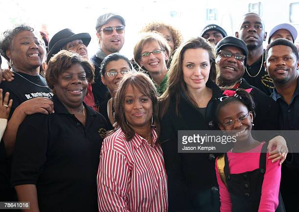 "Actor Brad Pitt and Actress Angelina Jolie attend The Childrens Health Fund ""Raise Awareness"" event at the Martin Luther King Jr. Charter School on..."