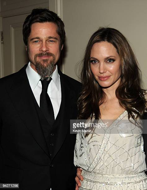 Actor Brad Pitt and actress Angelina Jolie attend the UNICEF Ball held at the Beverly Wilshire Hotel on December 10 2009 in Beverly Hills California