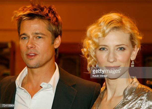 Actor Brad Pitt and actress Cate Blanchett arrive at the Paramount Vantage premiere of Babel held at the FOX Westwood Village theatre on November 5...