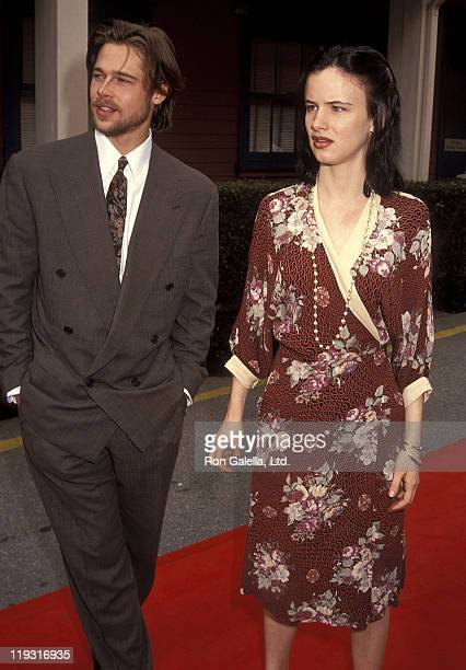 Actor Brad Pitt and actress Juliette Lewis attend the Seventh Annual IFP/West Independent Spirit Awards on March 28 1992 at Raleigh Studios in...