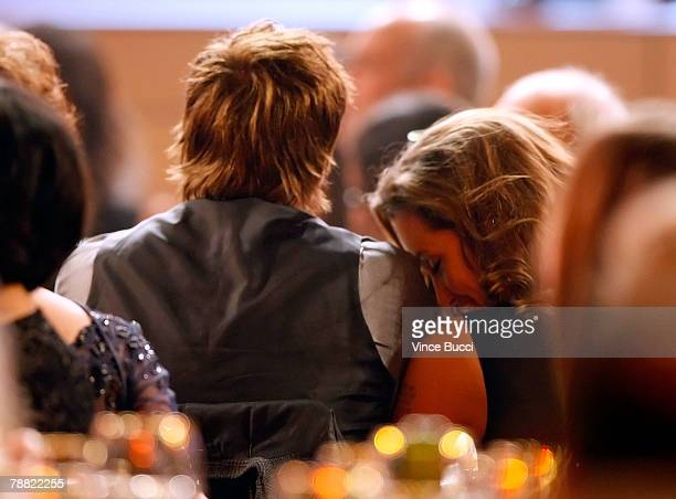 Actor Brad Pitt and Angelina Jolie in the audience during the 13th annual Critics' Choice Awards held at the Santa Monica Civic Auditorium on January...