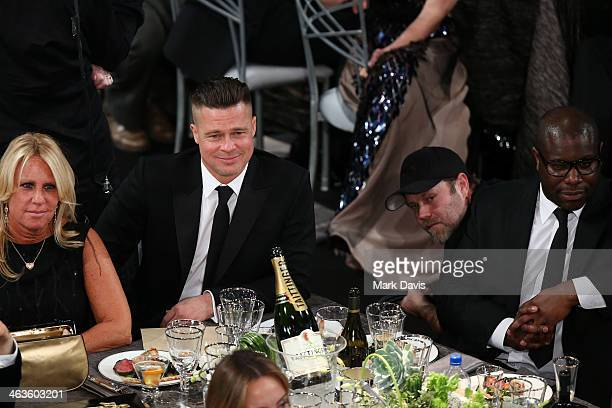 Actor Brad Pitt and director Steve McQueen attend 20th Annual Screen Actors Guild Awards at The Shrine Auditorium on January 18 2014 in Los Angeles...