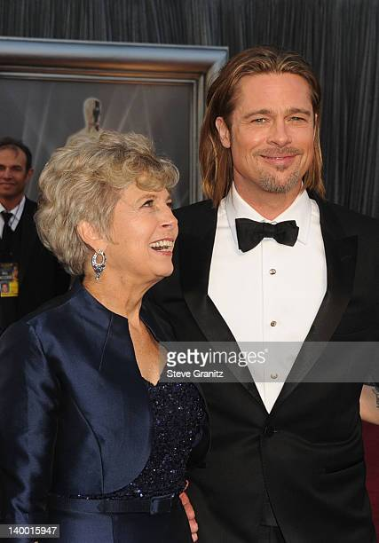 Actor Brad Pitt and mother Jane Pitt arrive at the 84th Annual Academy Awards held at the Hollywood Highland Center on February 26 2012 in Hollywood...