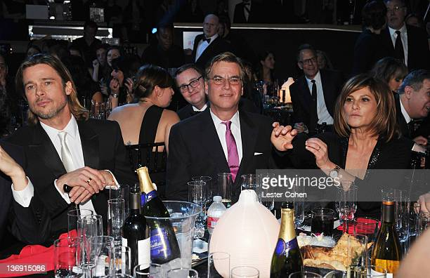 Actor Brad Pitt and writer Aaron Sorkin appear at the 17th Annual Critics' Choice Movie Awards held at The Hollywood Palladium on January 12 2012 in...