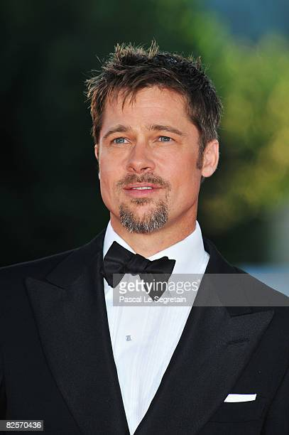 Actor Brad Pitt arrive at the opening ceremony and 'Burn After Reading' Premiere during the 65th Venice Film Festival at Sala Grande on August 27...