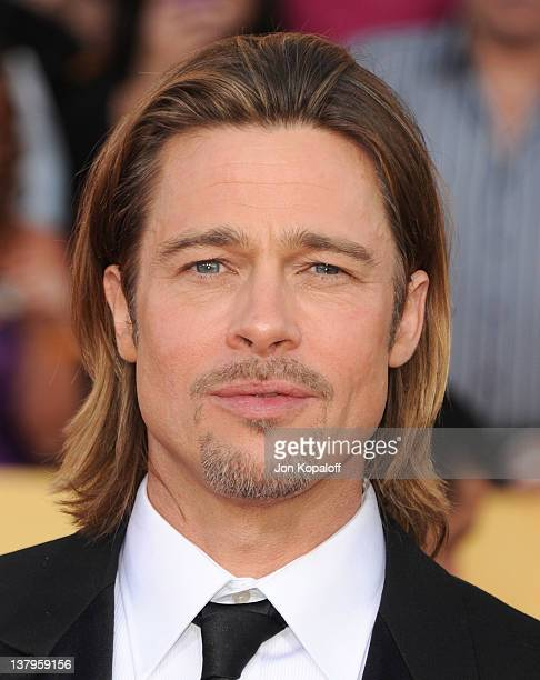 Actor Brad Pitt arrives at the 18th Annual Screen Actors Guild Awards held at The Shrine Auditorium on January 29 2012 in Los Angeles California
