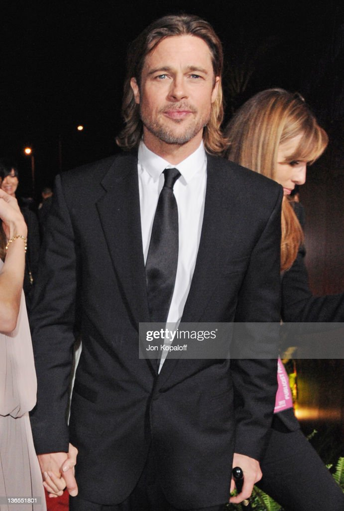 Actor Brad Pitt arrives at the 23rd Annual Palm Springs International Film Festival Awards Gala at Palm Springs Convention Center on January 7, 2012 in Palm Springs, California.
