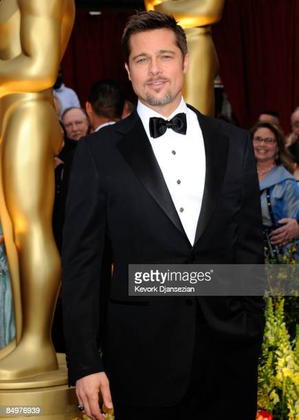 Actor Brad Pitt arrives at the 81st Annual Academy Awards held at Kodak Theatre on February 22 2009 in Los Angeles California