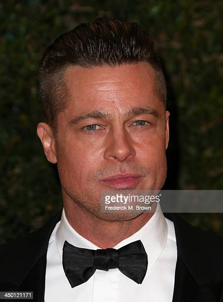 Actor Brad Pitt arrives at the Academy of Motion Picture Arts and Sciences' Governors Awards at The Ray Dolby Ballroom at Hollywood Highland Center...