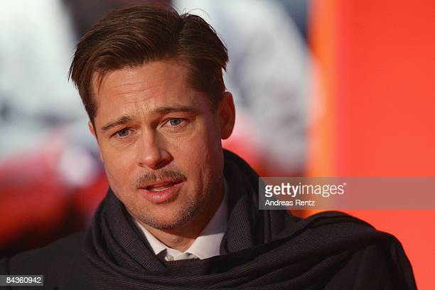 Actor Brad Pitt arrives at the Berlin premiere of 'The curious case of Benjamin Button' at the CineStar on January 19 2009 in Berlin Germany