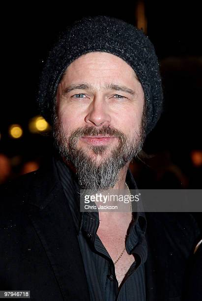 Actor Brad Pitt arrives at the 'Kick Ass' premiere at the Empire Leicester Square on March 22 2010 in London England