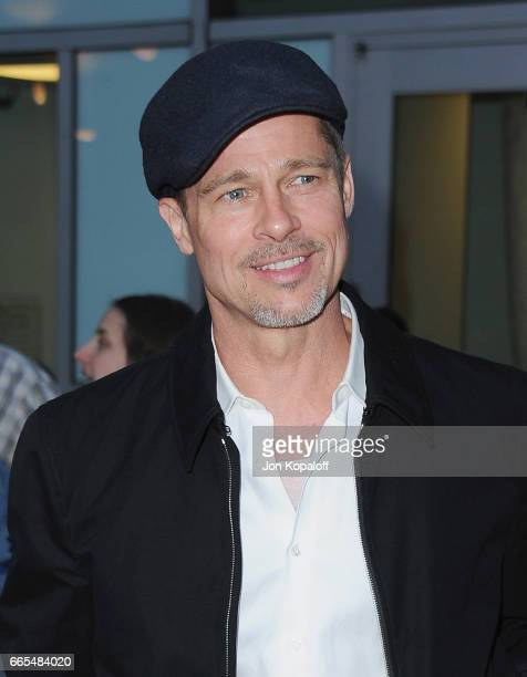 Actor Brad Pitt arrives at the Premiere Of Amazon Studios' 'The Lost City Of Z' at ArcLight Hollywood on April 5 2017 in Hollywood California