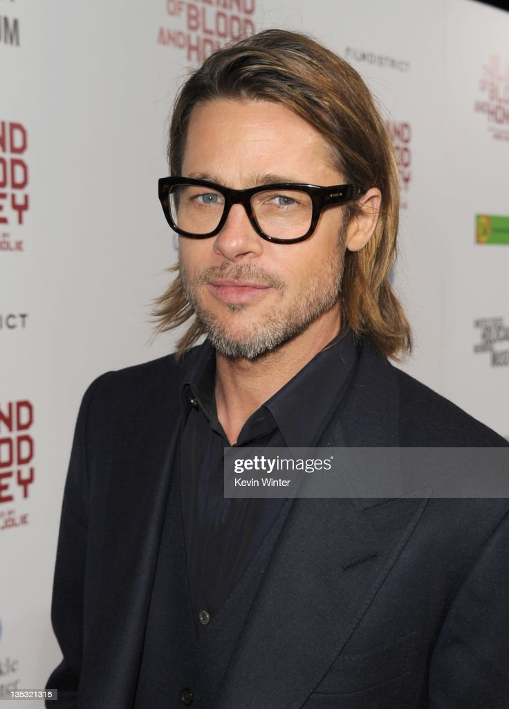 Actor Brad Pitt arrives at the premiere of FilmDistrict's 'In the Land of Blood and Honey' held at ArcLight Cinemas on December 8, 2011 in Hollywood, California.