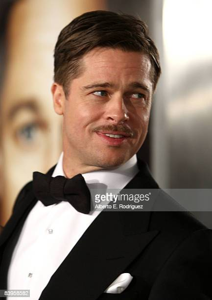 Actor Brad Pitt arrives at the premiere of Paramount's The Curious Case Of Benjamin Button held at Mann's Village Theatre on Decemeber 8 2008 in...