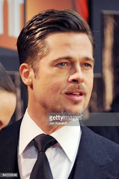 Actor Brad Pitt arrives at VH1's 14th Annual Critics' Choice Awards held at the Santa Monica Civic Auditorium on January 8 2009 in Santa Monica...