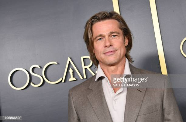 Actor Brad Pitt arrives for the 2020 Oscars Nominees Luncheon at the Dolby theatre in Hollywood on January 27, 2020.