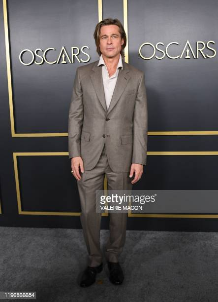 US actor Brad Pitt arrives for the 2020 Oscars Nominees Luncheon at the Dolby theatre in Hollywood on January 27 2020