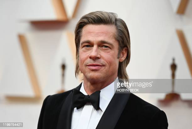 Actor Brad Pitt arrives for the 92nd Oscars at the Dolby Theatre in Hollywood, California on February 9, 2020.