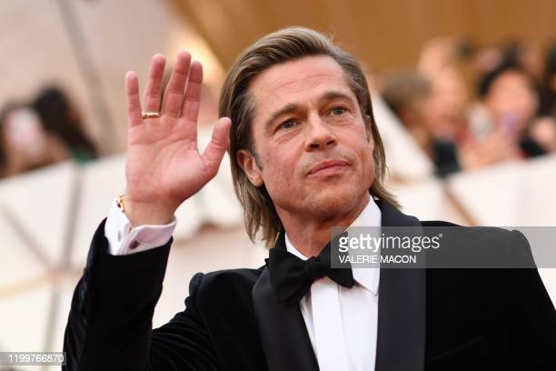 US actor Brad Pitt arrives for the 92nd Oscars at the Dolby Theatre in Hollywood California on February 9 2020