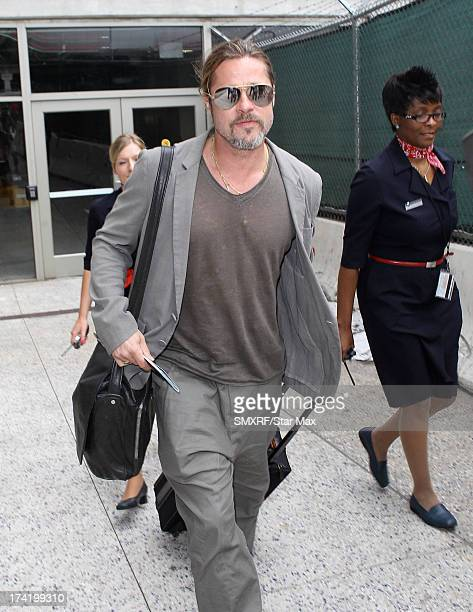 Actor Brad Pitt as seen on July 21 2013 in Los Angeles California