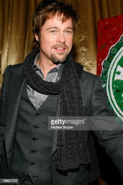 Actor Brad Pitt at the Critics' Choice Awards at the Santa Monica Civic Center on January 7 2008 in Santa Monica California