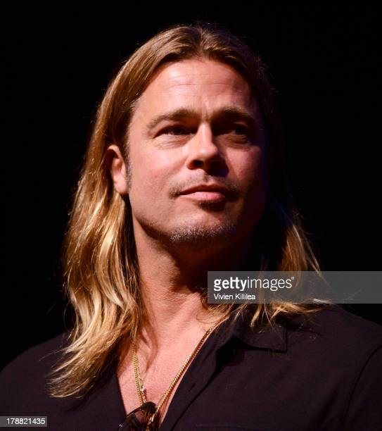 Actor Brad Pitt attends a QA for his film 12 Years A Slave at the 2013 Telluride Film Festival Day 2 on August 30 2013 in Telluride Colorado