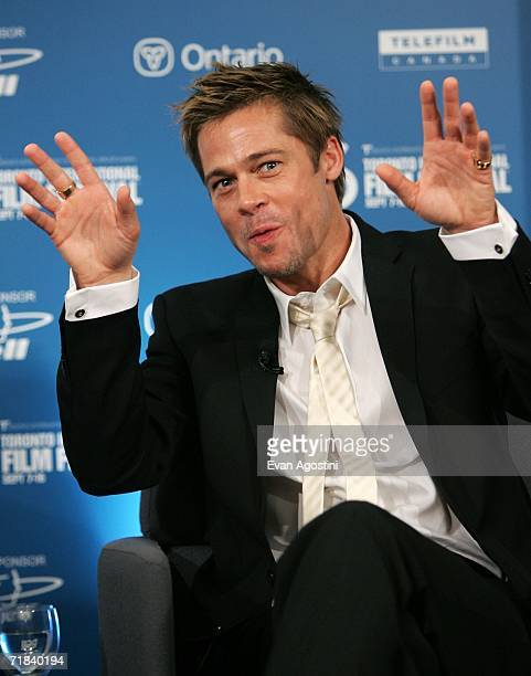 Actor Brad Pitt attends Babel press conference during the Toronto International Film Festival held at the Sutton Place Hotel on September 10 2006 in...