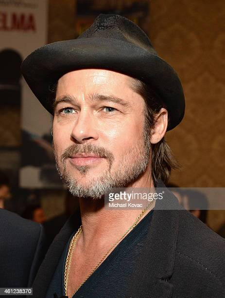 Actor Brad Pitt attends the 15th Annual AFI Awards Luncheon at Four Seasons Hotel Los Angeles at Beverly Hills on January 9 2015 in Beverly Hills...