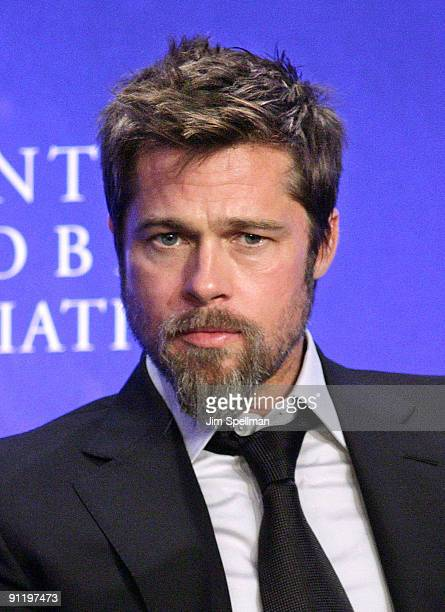 Actor Brad Pitt attends the 2009 Clinton Global Initiative Special Session Building A Better Future A Progress Report on Making it Right in New...