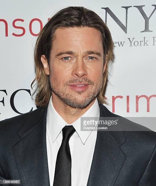 Actor Brad Pitt attends the 2011 New York Film Critics Circle awards at Crimson on January 9 2012 in New York City