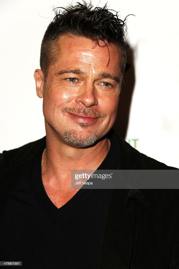 Actor Brad Pitt attends the 2014 Film Independent Spirit Awards at Santa Monica Beach on March 1, 2014 in Santa Monica, California.