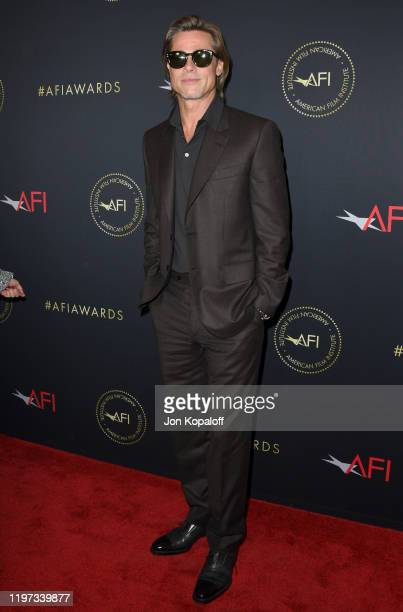 Actor Brad Pitt attends the 20th Annual AFI Awards at Four Seasons Hotel Los Angeles at Beverly Hills on January 03, 2020 in Los Angeles, California.