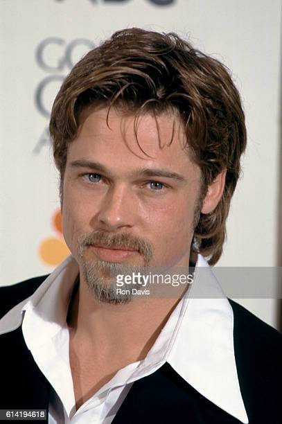 Actor Brad Pitt attends the 53rd Annual Golden Globe Awards Press Room on January 21 1996 at the Beverly Hilton Hotel in Beverly Hills California rn