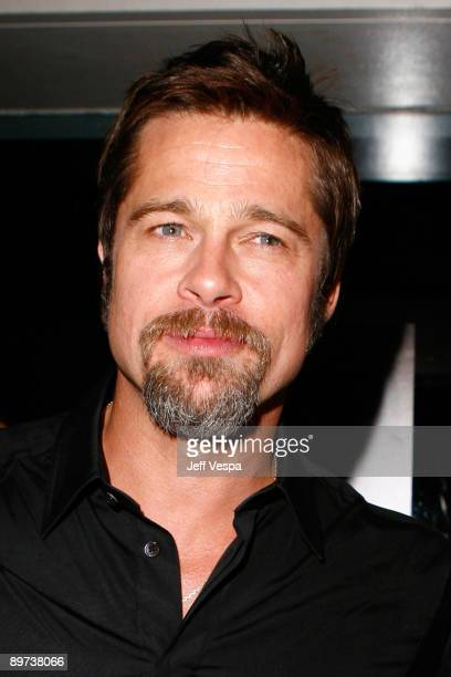 Actor Brad Pitt attends the after party for the Inglourious Basterds premiere held at the Mondrian Hotel on August 10 2009 in Los Angeles California