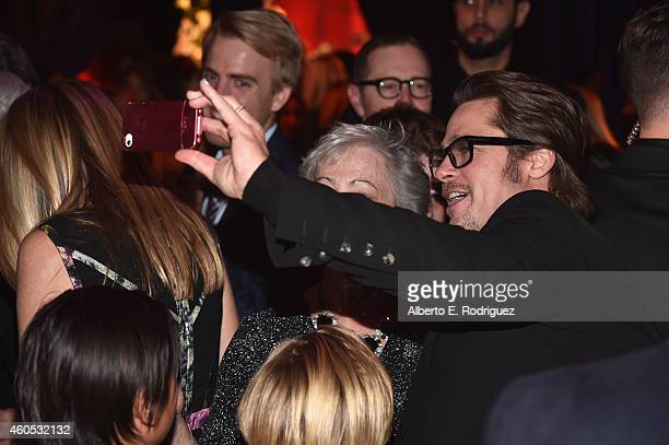 Actor Brad Pitt attends the after party for the premiere of Universal Studios' Unbroken at on December 15 2014 in Hollywood California