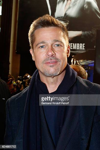 Actor Brad Pitt attends the 'Allied Allies' Paris Premiere at Cinema UGC Normandie on November 20 2016 in Paris France