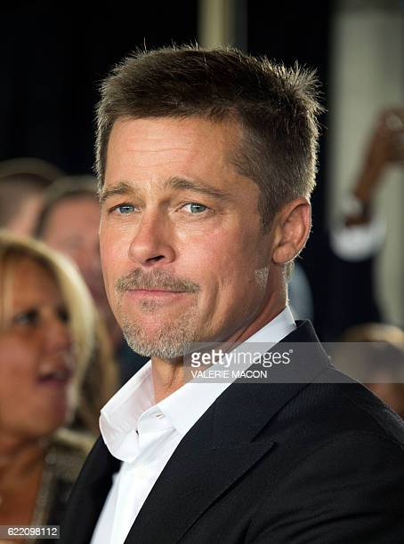 Actor Brad Pitt attends The Allied Fan Event Presented by Paramount Pictures in Westwood California on November 9 2016 / AFP / VALERIE MACON