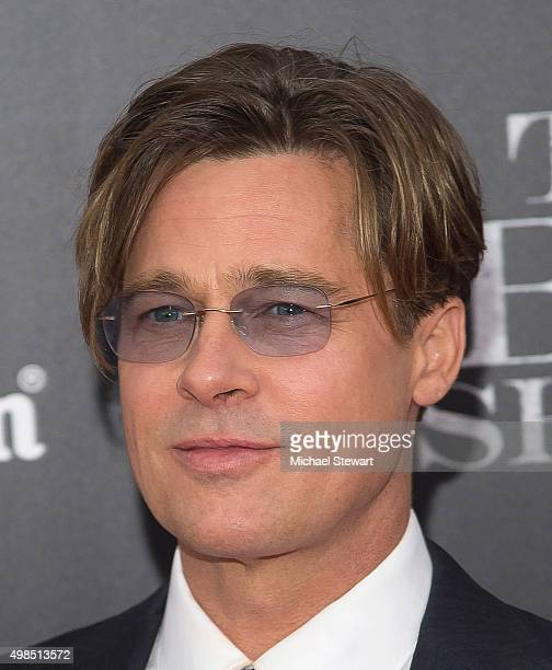 Actor Brad Pitt attends The Big Short New York premiere at Ziegfeld Theater on November 23 2015 in New York City