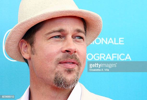 Actor Brad Pitt attends the Burn After Reading photocall during the 65th Venice Film Festival held at the Piazzale del Casino on August 27 2008 in...
