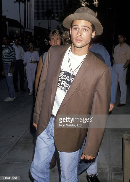 """Actor Brad Pitt attends the """"Eddie and the Cruisers II: Eddie Lives!"""" Beverly Hills Premiere on August 8, 1989 at the Academy Theatre in Beverly..."""