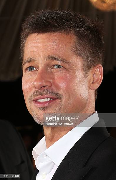 Actor Brad Pitt attends the fan event for Paramount Pictures' Allied at the Regency Village Theatre on November 9 2016 in Westwood California