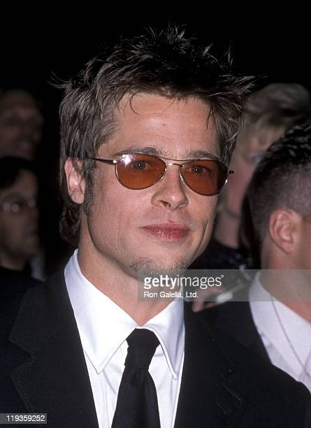 Actor Brad Pitt attends the Film Foundation's Fifth Annual John Huston Award for Artists Rights Salute to Tom Cruise on April 17 1998 at Beverly...