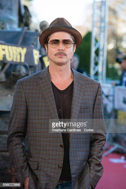 Actor Brad Pitt attends the 'Fury' Photocall at Les Invalides on October 18 2014 in Paris France
