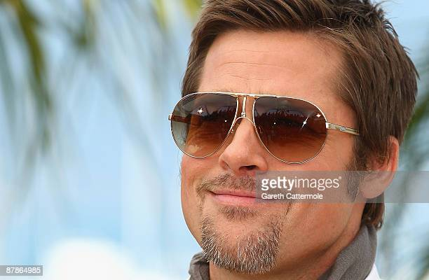 Actor Brad Pitt attends the Inglourious Basterds Photocall held at the Palais Des Festivals during the 62nd International Cannes Film Festival on May...