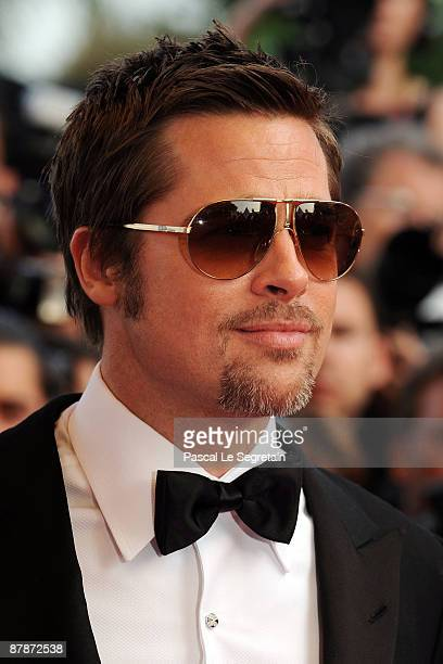 Actor Brad Pitt attends the Inglourious Basterds Premiere held at the Palais Des Festivals during the 62nd International Cannes Film Festival on May...
